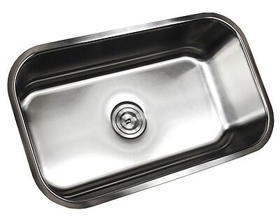 eModern Decor Ariel Pearl 30'' x 18.13'' Single Bowl Kitchen Sink