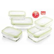 The Glass 10-Piece Rectangular Food Container Set