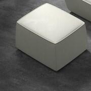 Modloft Forsyth Lounge Chair Leather Ottoman; White