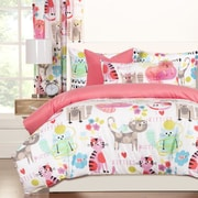 Crayola Crayola Purrty Cat Duvet Cover Set; Full