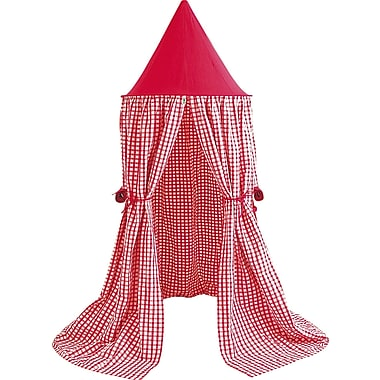 Win Green Hanging Play Tent; Cherry Red