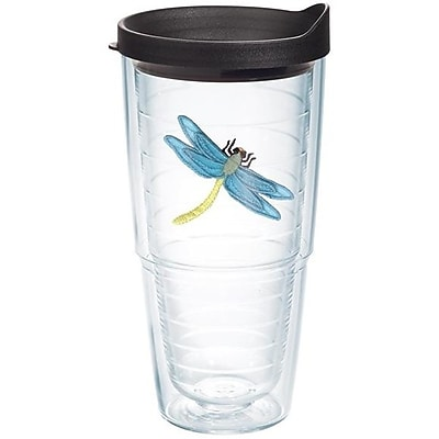 Tervis Tumbler Garden Party Dragonfly Blue Plastic Every Day Glass; 24 oz.