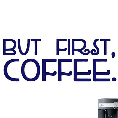 SweetumsWallDecals But First Coffee Wall Decal; Navy