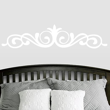 SweetumsWallDecals Elegant Accent Scroll Flourish Wall Decal; White