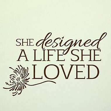 SweetumsWallDecals A Life She Loved Wall Decal; Chocolate Brown