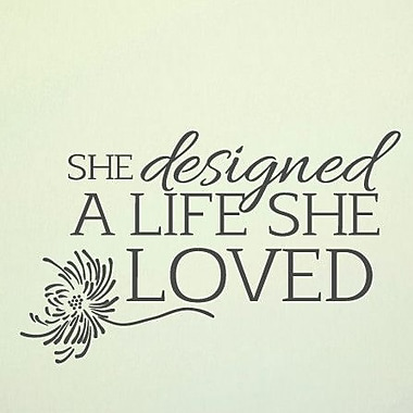 SweetumsWallDecals A Life She Loved Wall Decal; Dark Gray