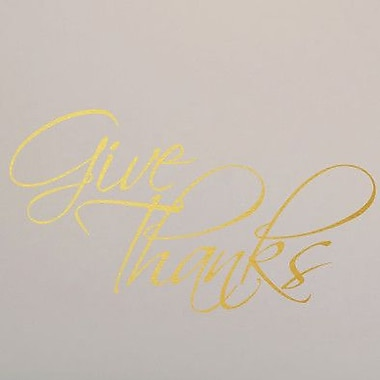 SweetumsWallDecals Give Thanks Wall Decal; Gold
