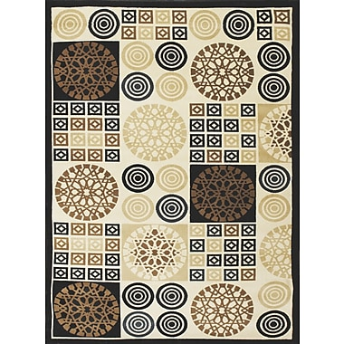 Brady Home Black Area Rug; 4' x 6'