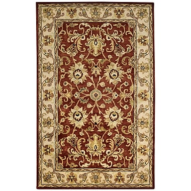 Capel Guilded Hand-Tufted Red Area Rug; 2'6'' x 3'6''