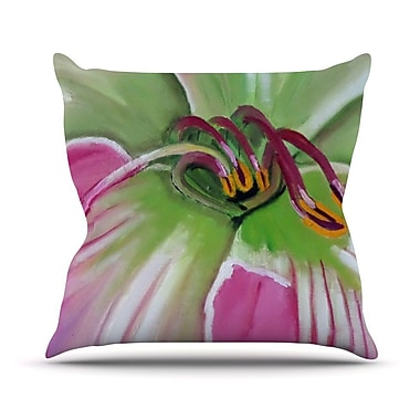 KESS InHouse Flower Outdoor Throw Pillow