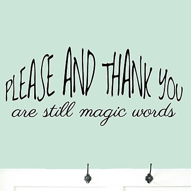 SweetumsWallDecals Please And Thank You Wall Decal; Black