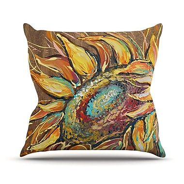 KESS InHouse Sunflower Outdoor Throw Pillow
