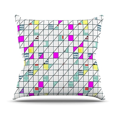 KESS InHouse Squares Outdoor Throw Pillow