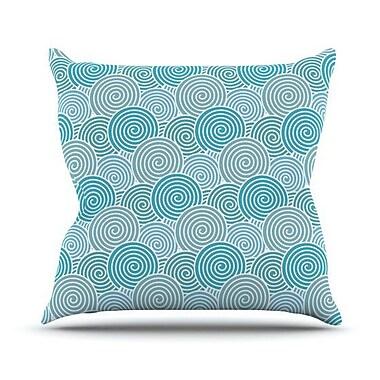 KESS InHouse Ocean Swirl Outdoor Throw Pillow