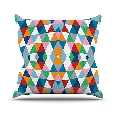 KESS InHouse Starburst Outdoor Throw Pillow