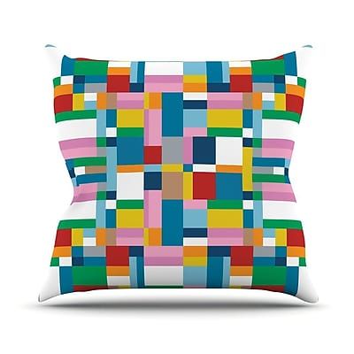 KESS InHouse Map Outdoor Throw Pillow