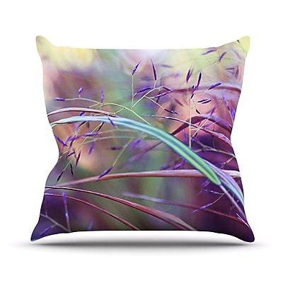 KESS InHouse Pretty Grasses Outdoor Throw Pillow