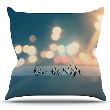 KESS InHouse Own The Night by Beth Engel Outdoor Throw Pillow