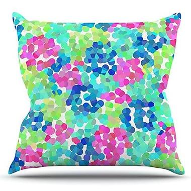 KESS InHouse Flower Garden by Beth Engel Outdoor Throw Pillow