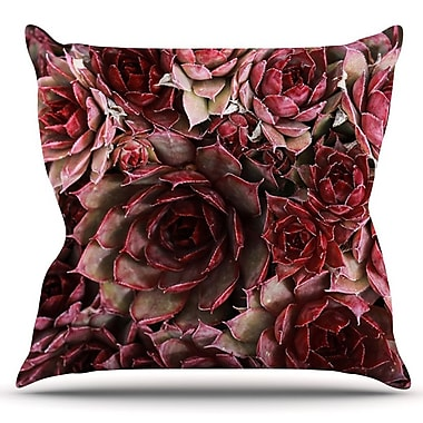 KESS InHouse Succulents by Debbra Obertanec Outdoor Throw Pillow