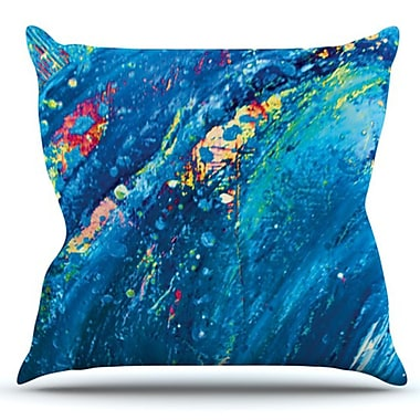 KESS InHouse Big Wave by Theresa Giolzetti Outdoor Throw Pillow
