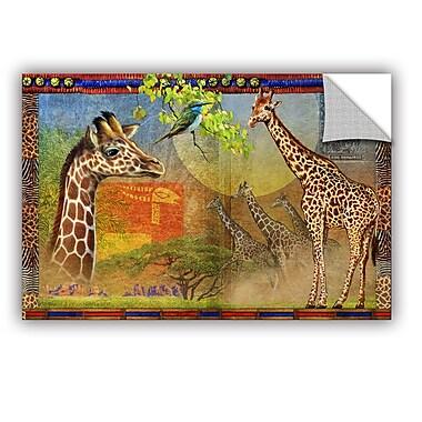 ArtWall African Giraffe by Chris Vest Wall Mural; 32'' H x 48'' W x 0.1'' D