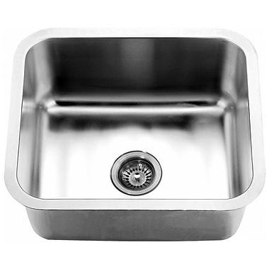 Dawn USA 21.06'' x 18.13'' Under Mount Single Bowl Kitchen Sink