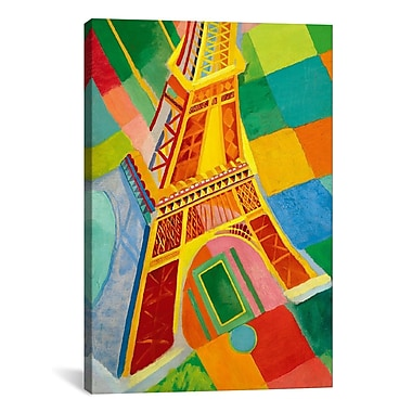 iCanvas ''Tour Eiffel (Tower)'' Canvas Wall Art by Robert Delaunay; 60'' H x 40'' W x 1.5'' D