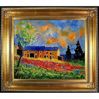 Tori Home Ledent - Poppies in Houroy Framed Painting Print