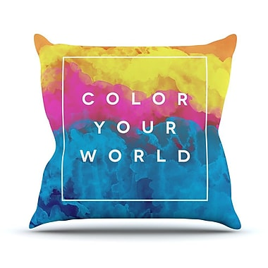 KESS InHouse Color Your World Outdoor Throw Pillow