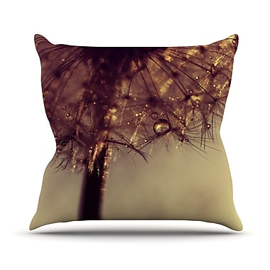 KESS InHouse Droplets of Gold Outdoor Throw Pillow