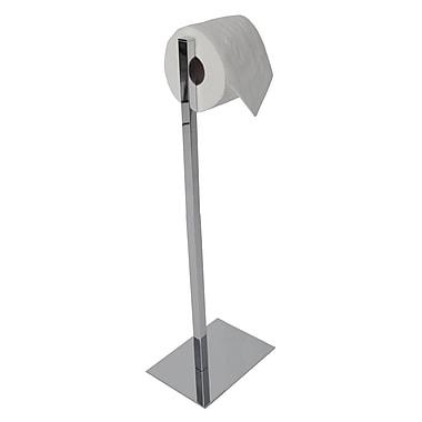 Valsan Essentials Freestanding Rectangular Base Toilet Paper Holder; Satin Nickel