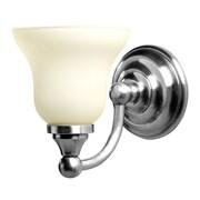 Valsan Kingston 1-Light Bath Sconce; Polished Nickel
