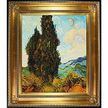 Wildon Home Two Cypresses by Vincent Van Gogh Framed Painting