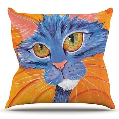 KESS InHouse Tell Me More by Padgett Mason Outdoor Throw Pillow