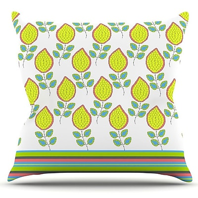 KESS InHouse Leaves by Nandita Singh Outdoor Throw Pillow