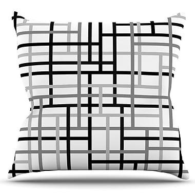 KESS InHouse Veza by Trebam Outdoor Throw Pillow; White/Black