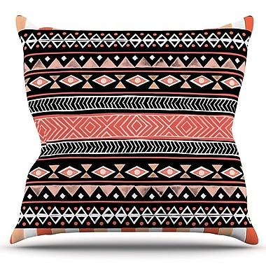 KESS InHouse Mojave Outdoor Throw Pillow; Black