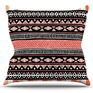 KESS InHouse Mojave by Skye Zambrana Outdoor Throw Pillow; Black