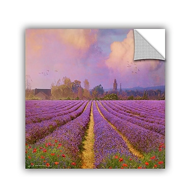 ArtWall Lavender Fields I by Chris Vest Wall Mural; 18'' H x 18'' W x 0.1'' D