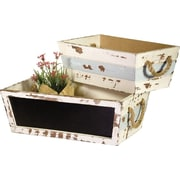 Boston International 2-Piece Plywood Planter Box Set