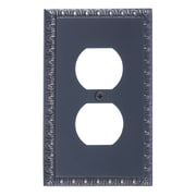 BRASS Accents Egg and Dart Single Outlet Plate; Venetian Bronze