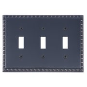 BRASS Accents Egg and Dart Triple Switch Plate; Venetian Bronze