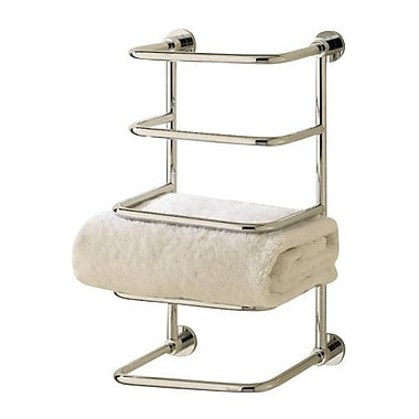 Valsan Essentials 4 Tier Wall Mounted Towel Rack; Satin Nickel