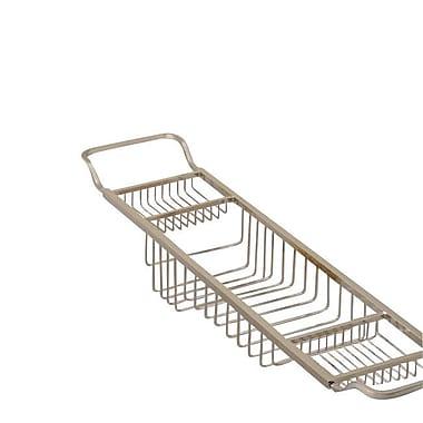 Valsan Essentials Solid Brass Bath Caddy; Chrome
