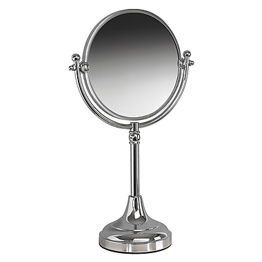 Valsan Classic Freestanding Mag Mirror; Chrome