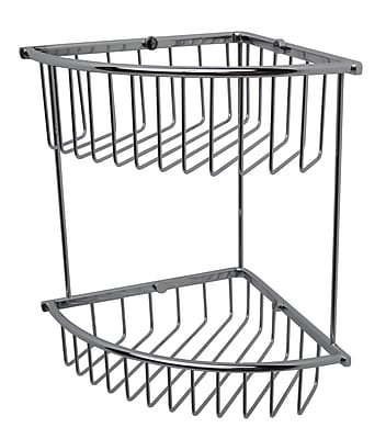 Valsan Essentials Double Corner Wire Shower Caddy; Chrome