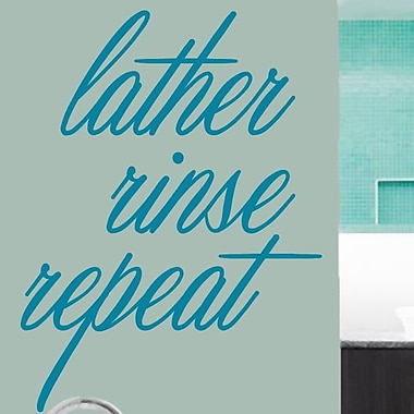 SweetumsWallDecals Lather Rinse Repeat Wall Decal; Teal