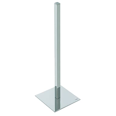 Valsan Essentials Freestanding Square Spare Roll Holder; Polished Nickel