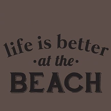 SweetumsWallDecals Life Is Better At The Beach Wall Decal; Black